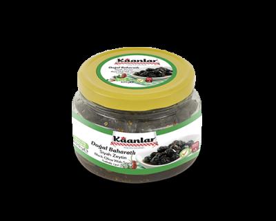 Sofralık Doğal Baharatlı Siyah Zeytin 400G